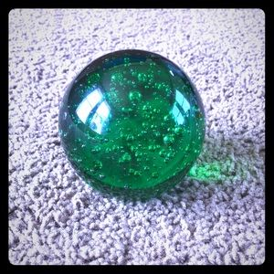 Vintage bubble glass paperweight